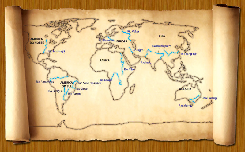 rios do mundo mapa Design Gráfico – Interface – Jogo Educativo | Renata Machado' ArtWork rios do mundo mapa